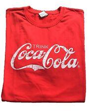 Coca-Cola Coke 2015 T-shirt rot Größe L - Retro Style Logo Scipt
