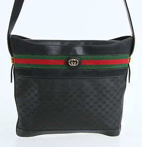 3e0b23eda5bcce Gucci 10x10 Vintage Black Crossbody Bag | Stanford Center for ...