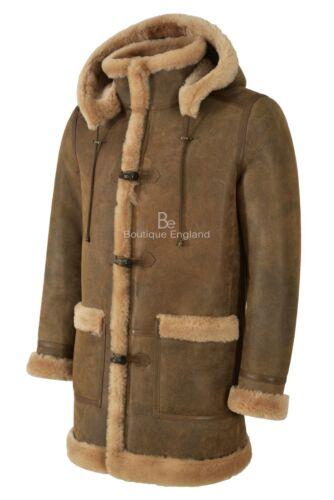 vera shearling con in 100 Montgomery di pelliccia da di montone pelle 42 F cappuccio uomo vera fATTqwx