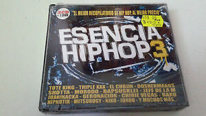 CD-034-ESENCIA-HIP-HOP-3-034-3CD-DVD-51-TRACKS-PRECINTADO-SEALED-RECOPILATORIO-HIP-HOP