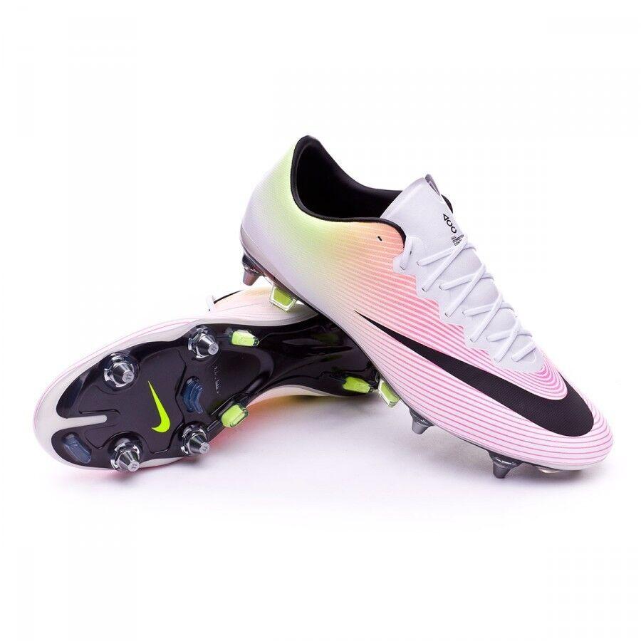 Nike Mercurial Vapor X SG-Pro ACC White Black Volt Pink Soccer Cleats Mens sz 12