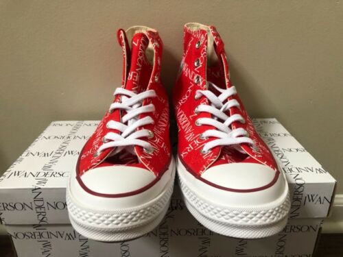 Converse Chuck 70 High JW Anderson Grid Red Scarlet 162290C 100/% Authentic