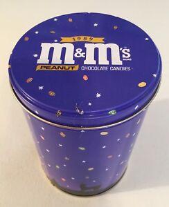 Large Round M/&M/'s Collectors TinCanister