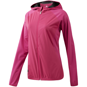 Activewear Jackets Self-Conscious New Adidas Women's Climastorm Full Zip Shock Pink Jacket Medium m Women's Clothing