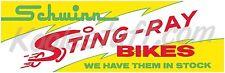 Schwinn Bicycle  STING-RAY BIKES Window Banner / Poster - 1960's Recreation