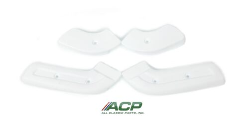 ACP Mustang Seat Hinge Covers 4 Pieces 1968-1970 White