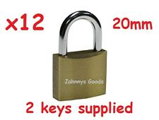 12 x 20MM TRAVEL PADLOCKS WITH KEYS LUGGAGE LOCK TRAVEL BAGS PAD SMALL LOCKS
