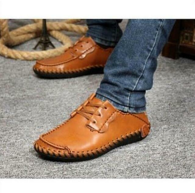Fashion Mens Driving Moccasins Leather Slip On Loafers Leather Sneakers shoes