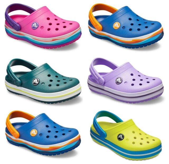 9 M US Toddler Navy//Red Crocs Kids Crocband Sandal