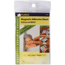 """ProMag Adhesive Magnetic Sheet-4""""X6"""" 4/Pkg New"""