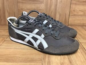 RARE-Asics-Onitsuka-Tiger-Serrano-Dark-Shadow-Gray-Sz-8-5-Men-039-s-Sneakers-D109L