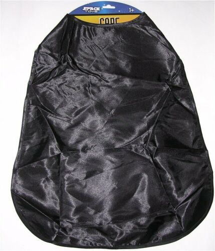 """x 18.5/"""" NEW W L Plain//Blank Black Polyester Cape for Kids 3+ By Space Toys 21/"""""""