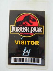 Image Is Loading HALLOWEEN COSTUME PROP ID Security Badge Jurassic Park