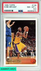 1996 TOPPS Kobe Bryant #138 LOS ANGELES LAKERS ROOKIE RC PSA 8.5 MAMBA