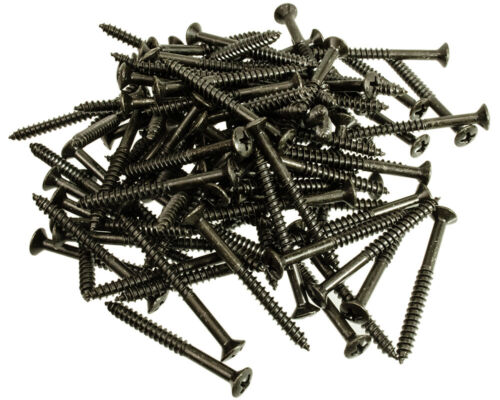 Guitar//Bass Neck Mount Screws Black Luthier Package of 100
