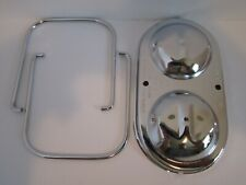 Chrome Gm Master Cylinder Cover Dual Bail Fits Chevy Buick Pontiac Olds 9102