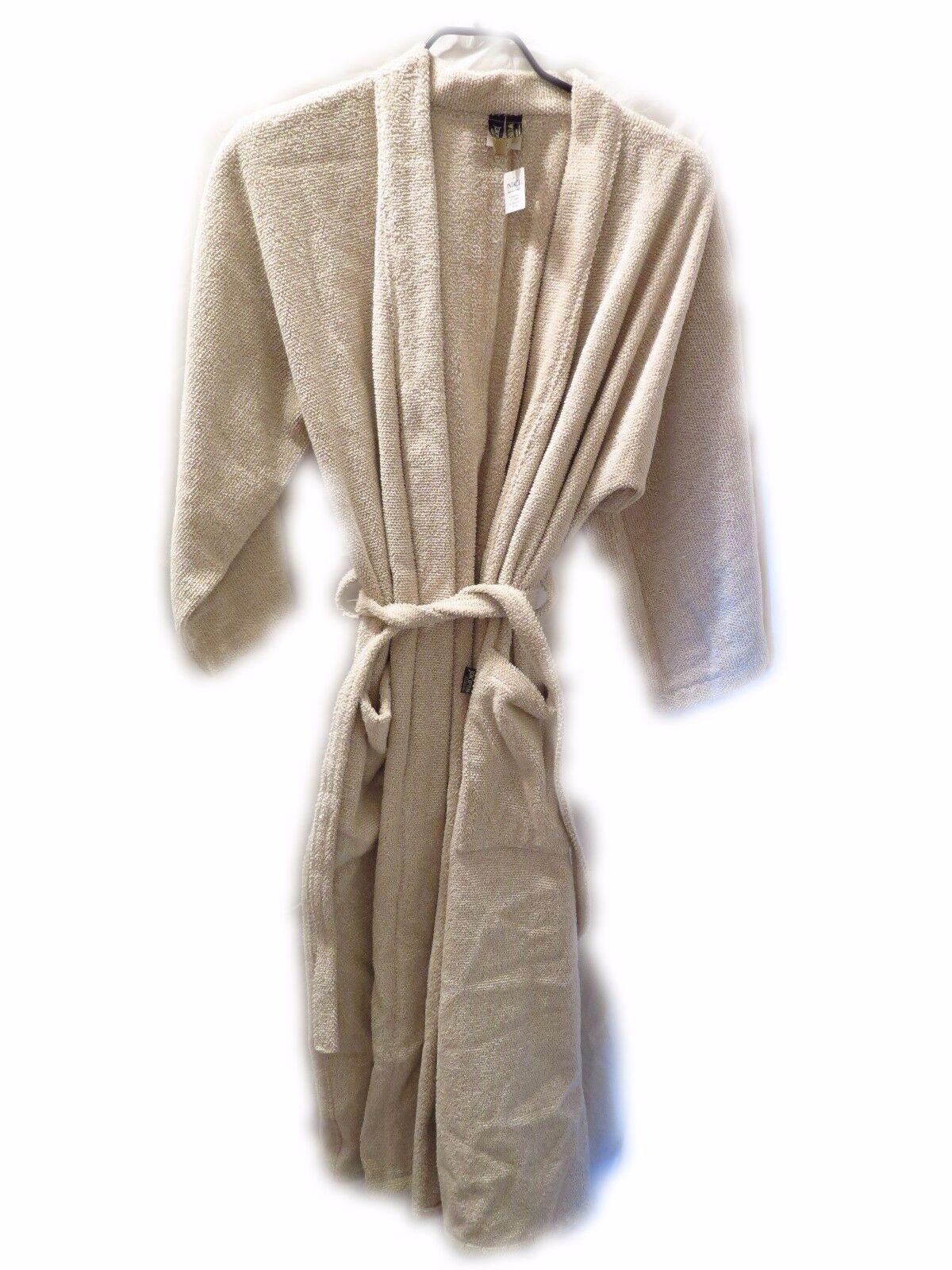 Jokipiin Pellava Leinen Sauna Mantel Kimono Villa weiß/beige Bademantel Gr. S