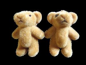 5x-Marron-Pequena-Lindo-Pequeno-Miniatura-Casa-Muneca-de-fieltro-Artesania-osos-de-peluche-1-4-034