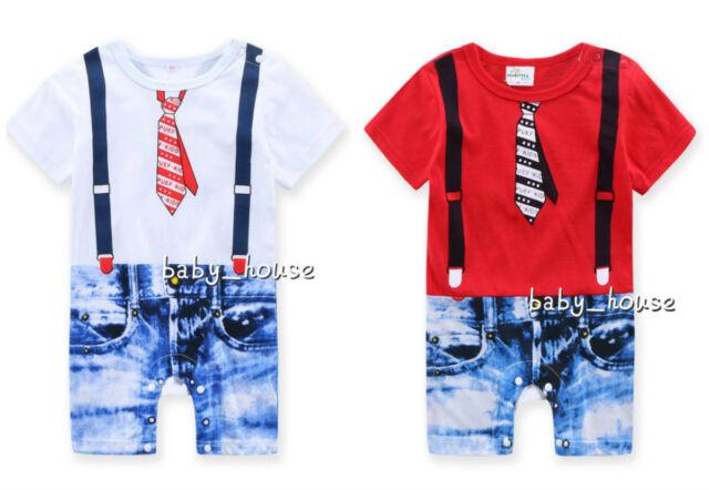 "New baby boys bodysuit one-piece ""gentleman"" bodysuit Cool boy 0-18M"
