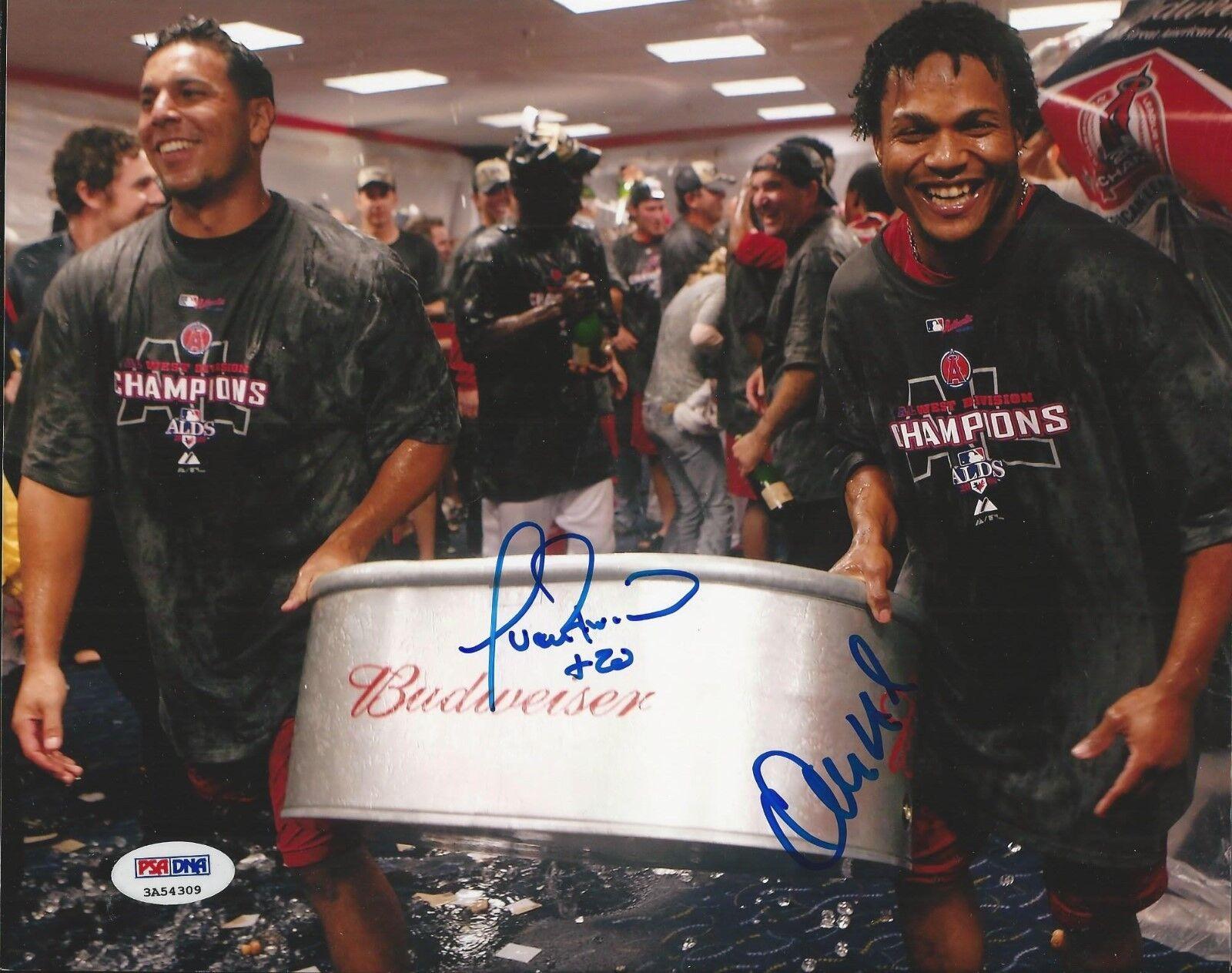 Erick Aybar & Juan Rivera Los Angeles Angels signed 8x10 photo PSA/DNA # 3A54309