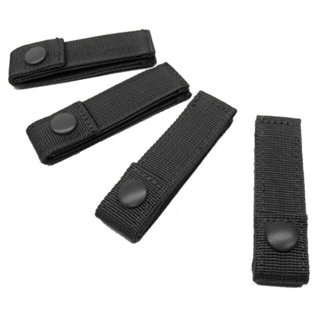 """Black #223 Lot of 4 Condor 4/"""" Inch Molle MOD Straps for Tactical Gear Pouch"""