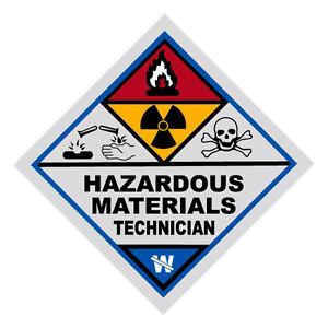 Haz Mat Hazardous Materials Technician Firefighter Reflective Decal Sticker