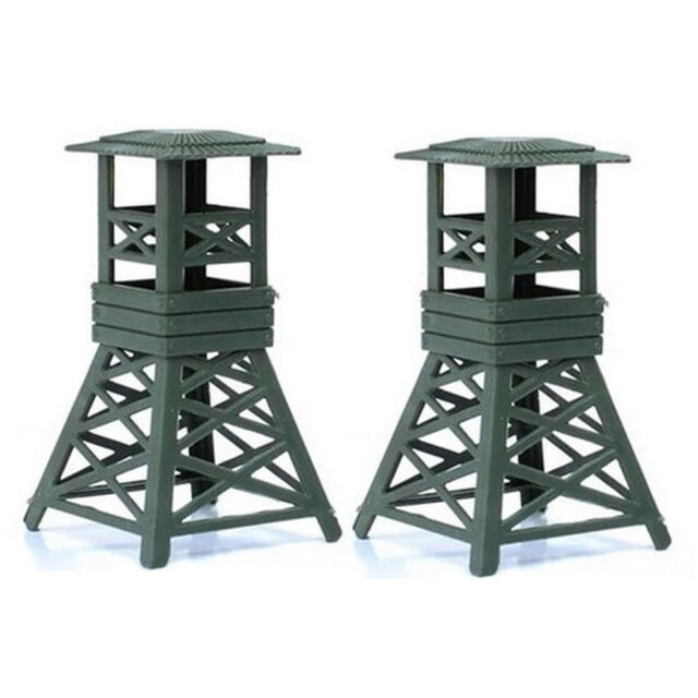 2pcs Military Watch Tower Model Plastic Toy Soldier Army Men Accessories Cool