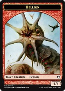 MTG-Magic-C-Zendikar-vs-Eldrazi-4-4-Red-Hellion-Token-NM-M