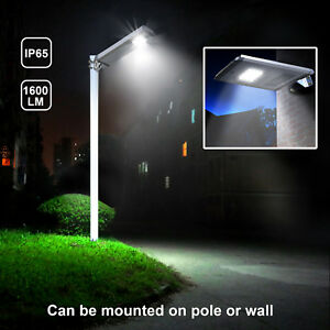 Details About 1 600lm Commercial Solar Led Street Light Outdoor Ip65 Dusk To Dawn Sensor Lamp
