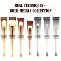 REAL TECHNIQUES Bold Metal Makeup Brushes Blush 7pcs Set Full Kit Collection UK