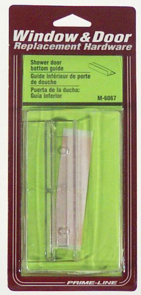 Pack of 2 PrimeLine M 6090 Shower Door Bottom Guide Nylon,