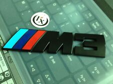 Metal M-power ///M M3 Badge Black Emblem Rear Trunk For E30 E36 E46 E90 E92 X5