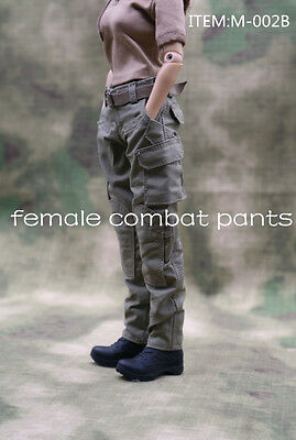 """Army Green Combat Pants 1//6 Scale Female Cloth Model For 12/"""" Soldier Doll"""