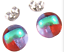 Tiny-DICHROIC-Post-EARRINGS-1-4-034-10mm-Clear-Gold-Red-Purple-Fused-GLASS-STUDS thumbnail 1