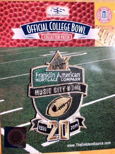 NCAA College Football Music City Bowl 2017//18 Patch Northwestern /& Kentucky