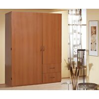 Armoire Wardrobe Storage Closet Organizer Bedroom Furniture Cabinet Cloth Cherry