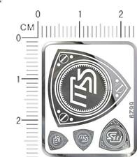 decals CAR logo for different scales model kits chrome Silver metal 7034