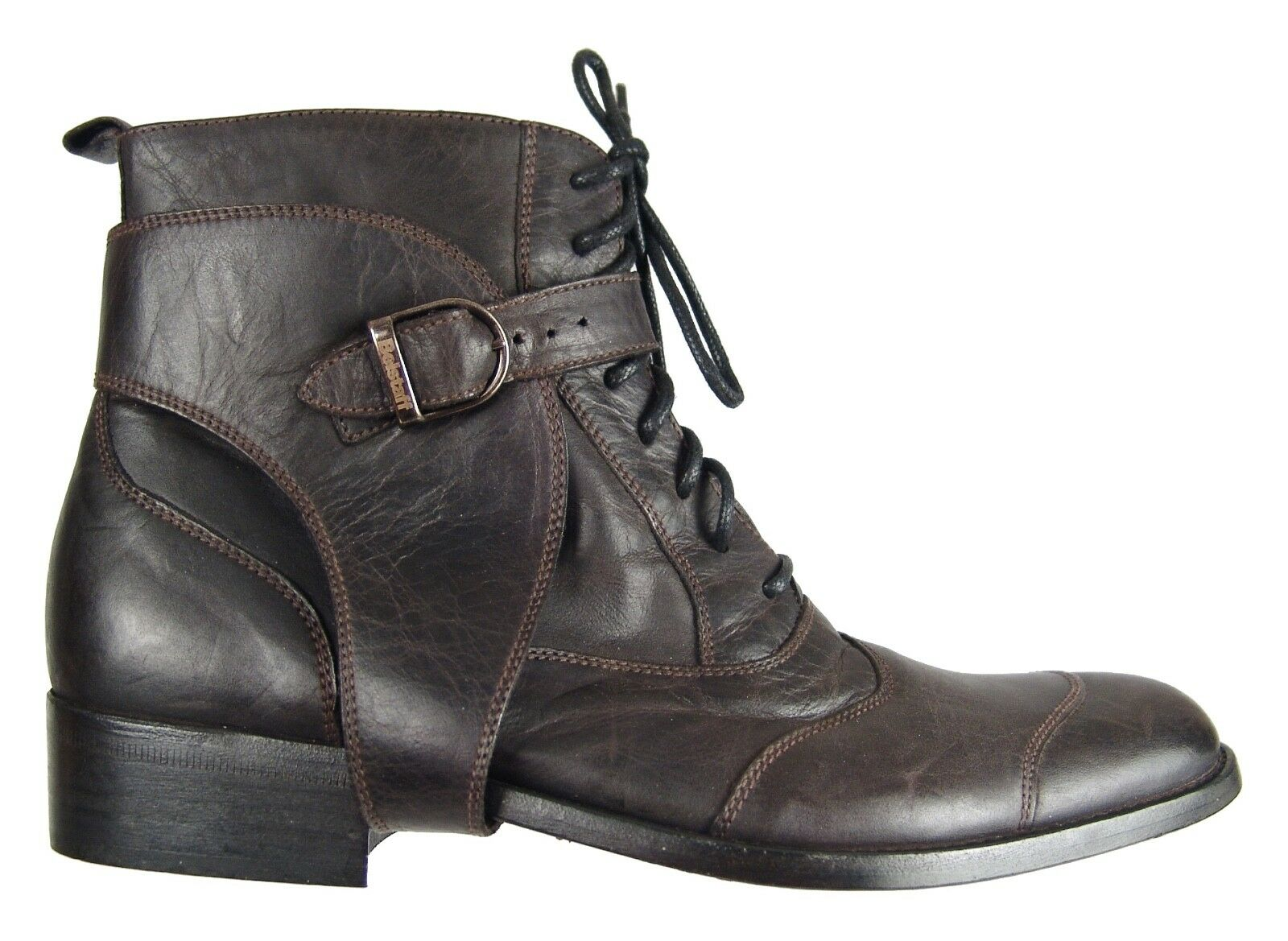 Authentic Belstaff Uomo Erik Ankle Pelle Stivali EU Size 42 Shoes Made In Italy