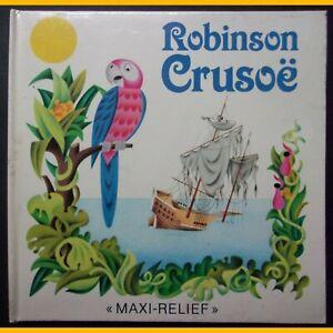 Pop-up-livre-en-relief-ROBINSON-CRUSOE-Jiri-Pavlin-Gustav-Seda-1988