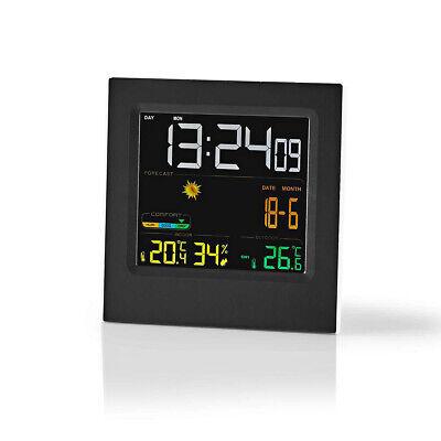 umidit/à display a colori Led previsioni del tempo Sebson Stazione meteo wireless con temperatura interna ed esterna sensore esterno