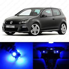 11 x Ultra Blue LED Interior Light Package For 2010 - 2013 VW Golf GTi Mk6