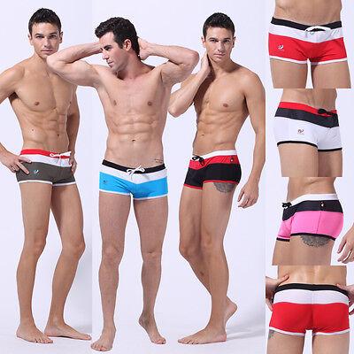 Brand Men's Mesh Swim Trunks Swimwear Sexy Swimming Boxer Briefs Shorts  S M L