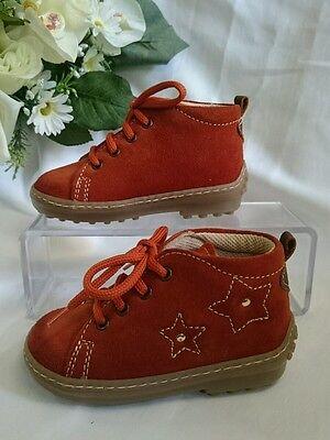 BABY Kinder Schuhe Herbst MADE IN ITALY Gr. 24 Terracotta LEDER NEU Stern