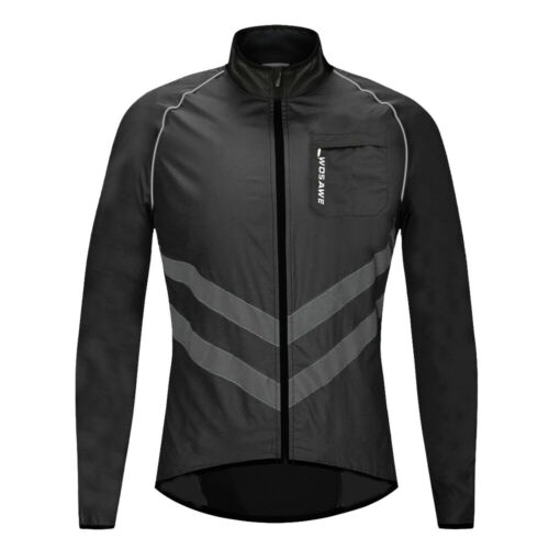 High Visibility Cycling Jacket Windproof Waterproof Bike Jersey MTB Bicycle Vest