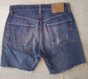 Levis *Big E 501* Authentic Jeans Shorts Vintage Rare High Waisted ...