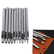 10Pcs Hollow Round Punch Set Hole Leather Puncher DIY Tool Gasket Belt Hole Punching Leather