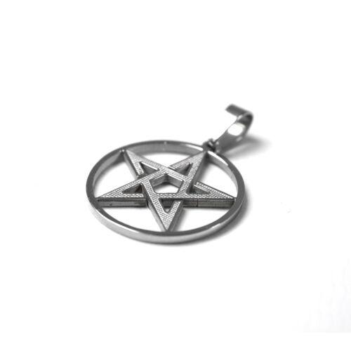 Kettenanhänger Pentagram Edelstahl Schmuck Bikerschmuck Anhänger
