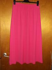 "M&S Fully Lined Part-Elasticated Waist Long Chiffon Skirt UK 16 L36"" Pink BNWT"