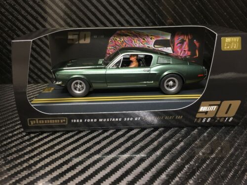 Pioneer slot car P085 ford mustang Bullitt 50th Anniversary Special Edition T2