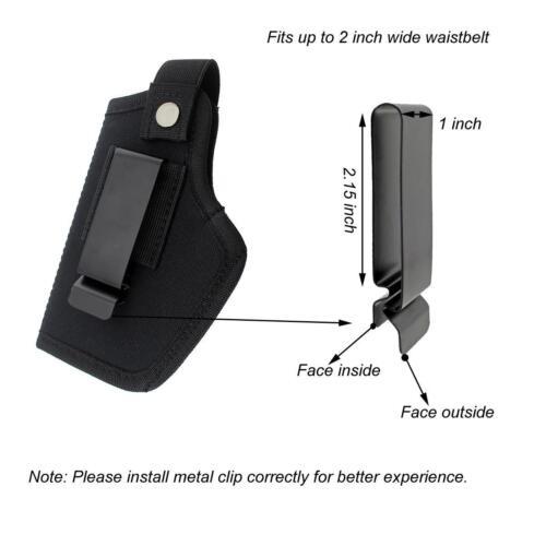 Concealed Belt Holster IWB Holster or OWB Holster for All Sizes Handguns